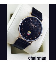 Chairman Watches dotted shaded dial-black-gold frame