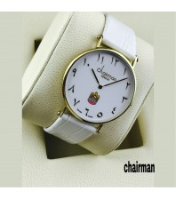Chairman Watches-white dial & Strap with golden frame