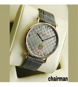 Chairman Watches-dotted ash dial & Strap with golden frame