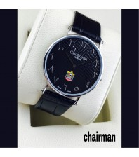 Chairman Watches dotted shaded dial-black-silver