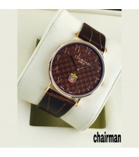 Chairman Watches dotted shaded dial-brown-gold frame