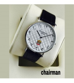Chairman Watches-dotted white dial-silver frame