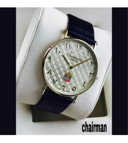 Chairman Watches-dotted golden dial-golden frame