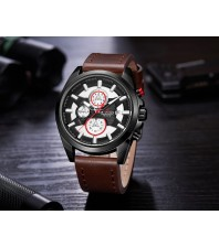 Armi Force watches -Brown strap-Black Dial