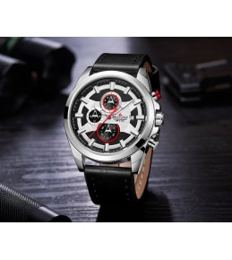 Armi Force watches -Black strap-White Dial