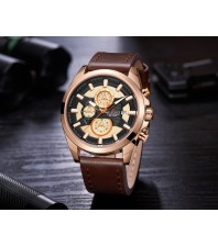 Armi Force watches -Brown strap-Brown Dial