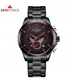 Armi Force watches -Black chain-White and Red Dial -chain