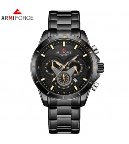 Armi Force watches -Black chain-Black and Yellow Dial -chain