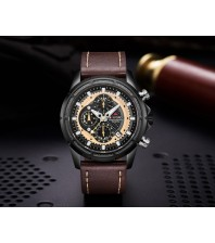 Armi Force watches -Dark Brown strap-Black Dial