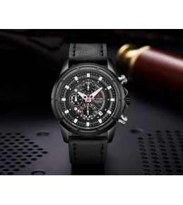 Armi Force watches -Black strap-Black and white Dial