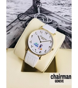 chairman year 2018 white dial with blue logo